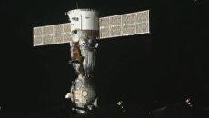 Кадры расстыковки от МКС и приземления последнего корабля серии Союз ТМА-20М