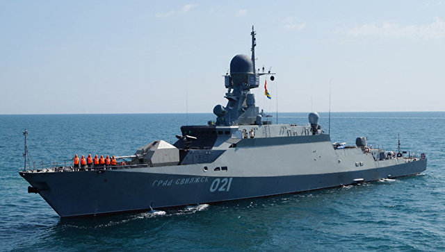 Малый ракетный корабль (МРК) проекта 21631 Буян-М Град Свияжск. Архивное фото