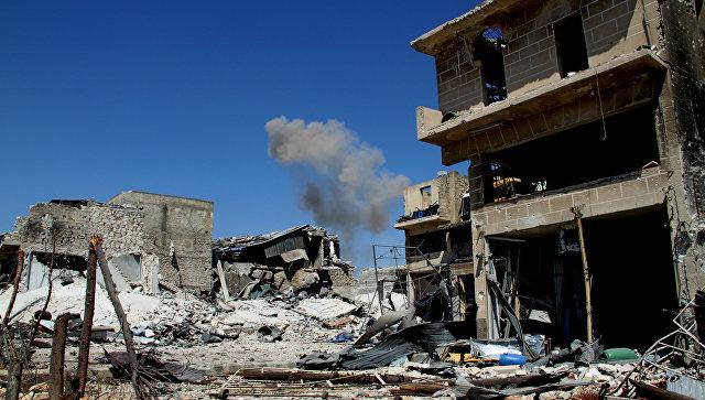 Освобожденный бойцами сирийской армии район Рамусе на юге Алеппо. Архивное фото