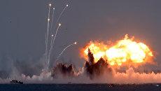 Военные учения российской армии на побережье Черного моря в Крыму. 9 сентября 2016