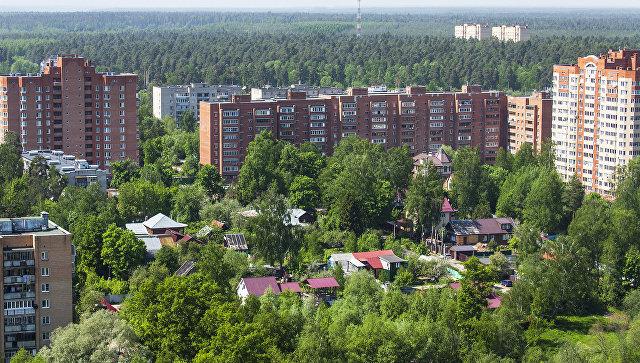 Вид на город Пушкино. Архивное фото