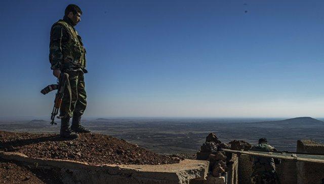 Сирийский военнослужащий на границе провинции Кунейтра. Архивное фото