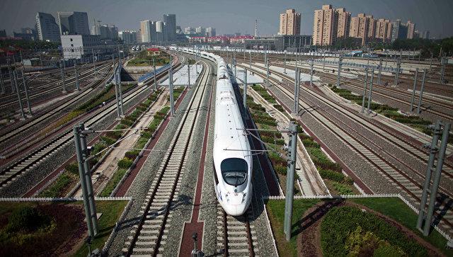 Скоростной поезд в Китае. Архивное фото