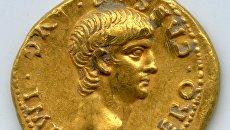 Золотой аурей, найденный в Иерусалиме