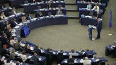 Председатель Еврокомиссии Жан-Клод Юнкер во время выступления на пленарной сессии Европарламента в Страсбурге. 14 сентября 2016