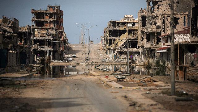 Вид на город Сирт, Ливия, архивное фото
