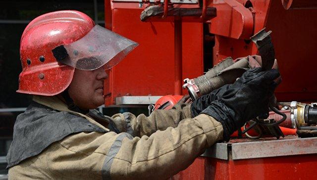 В Барнауле локализовали пожар в историческом здании конторы купца Морозова