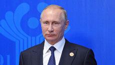 Владимир Путин во время саммита СНГ в Бишкеке. 16 сентября 2016