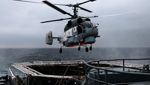 Вертолет Тихоокеанского флота России. Архивное фото