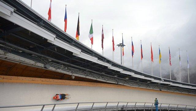 Саночник Репилов занял первое место наэтапе Кубка мира вСША