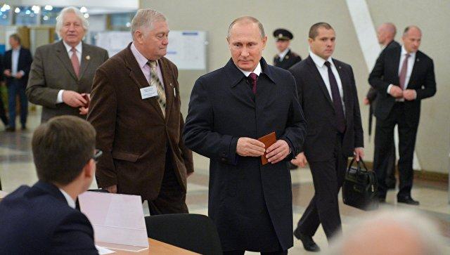 Президент РФ В. Путин на выборах в единый день голосования