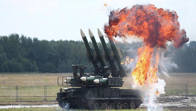 Зенитный ракетный комплекс Бук в Подмосковье. Архивное фото