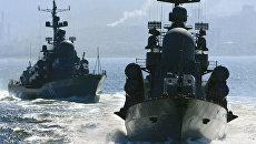 Боевые корабли ВМФ России. Архивное фото