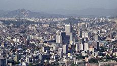 Вид на город Сеул с горы Намсан. Архивное фото