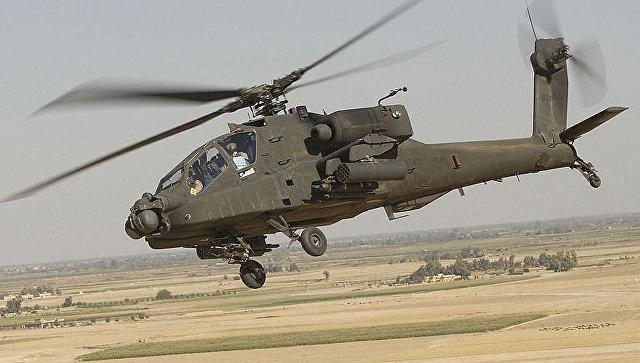 ВГреции рухнул военный вертолёт Apache