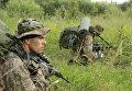 Военнослужащие Центра специального назначения войск национальной гвардии РФ во время учений