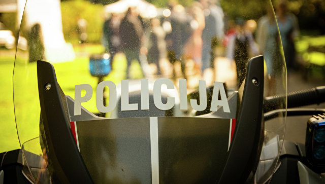 Мотоцикл полиции Латвии. Архивное фото