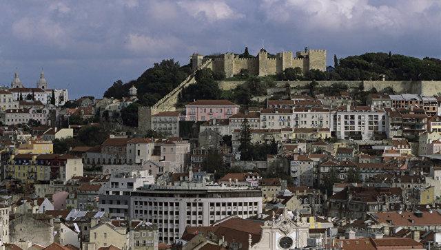 Вид на город Лиссабон. Португалия. Архивное фото