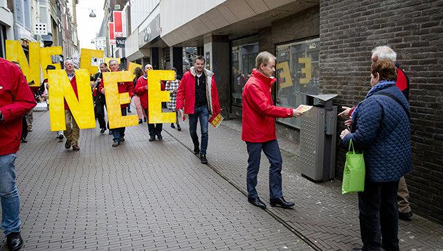 Демонстрация перед референдумом в Гааге, Нидерланды. Архивное фото