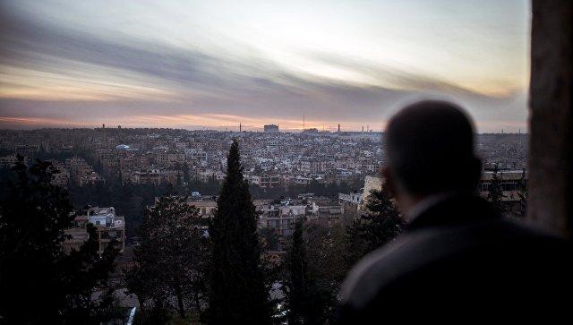 Вид на город Алеппо, архивное фото