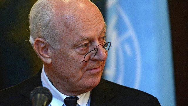 Специальный посланник ООН по Сирии Стаффан де Мистура, архивное фото