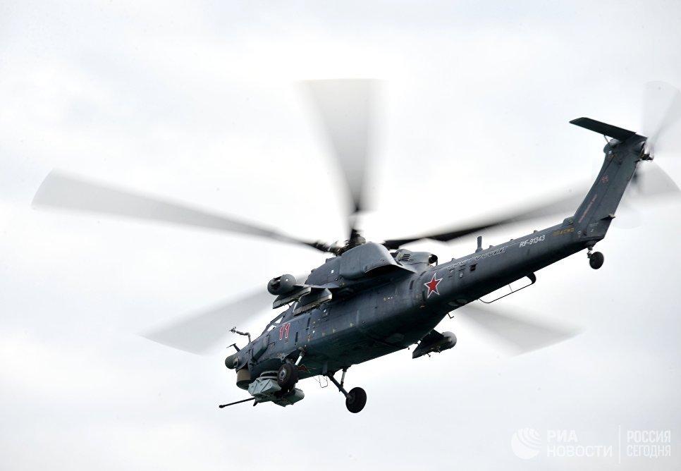 Вертолет МИ-28 на международной выставке Гидроавиасалон-2016 в Геленджике