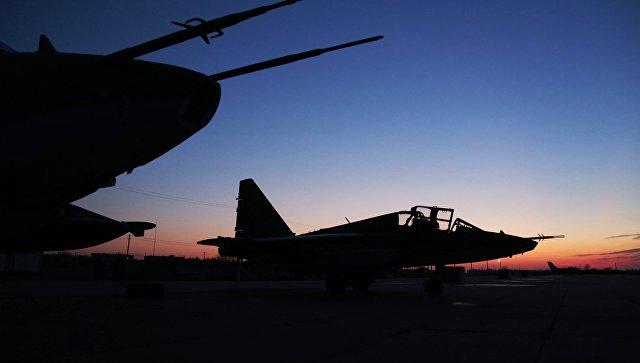 Штурмовики Су-25 ВКС России. Архивное фото