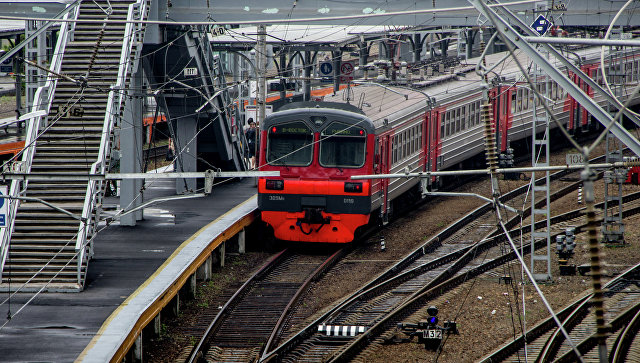 Электропоезд во Владивостоке