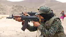 Солдат антитеррористического подразделения в Йемене. Архивное фото