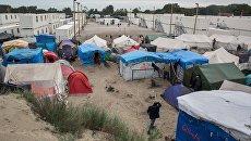 Стихийный лагерь мигрантов. Архивное фото