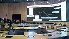 Брифинг минобороны РФ и представителей ВПК о первичных радиолокационных данных в районе крушения Boeing в Донецкой области. 26 сентября 2016