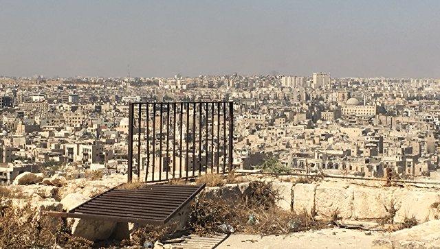 Алеппо. Вид из Цитадели в старом городе