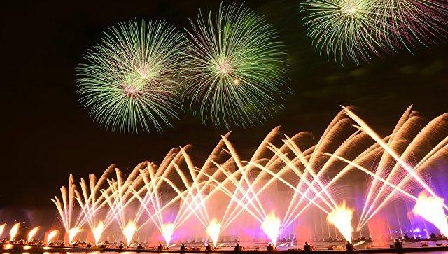 На церемонии закрытия Московского Международного фестиваля Круг света 2016 в Москве