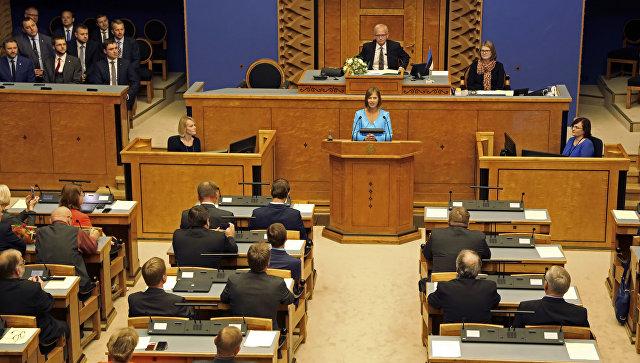 Новоизбранная президент Эстонии вступает вдолжность