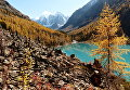 Нижнее Шавлинское озеро в Кош-Агачском районе Республики Алтай