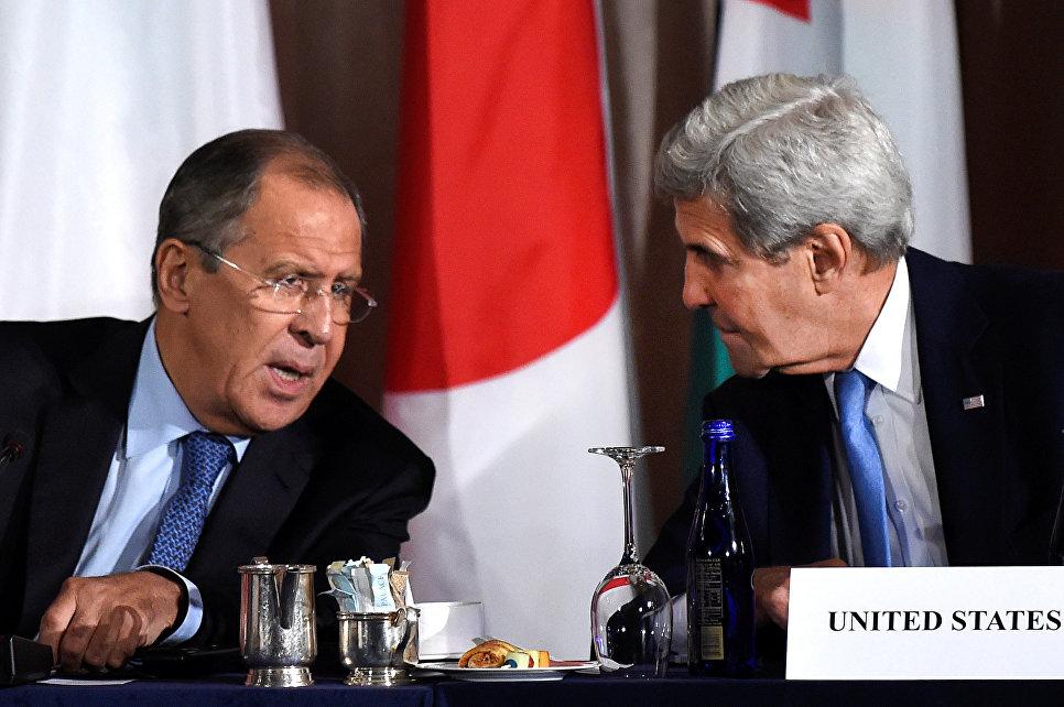 лава МИД РФ Сергей Лавров и госсекретарь США Джон Керри