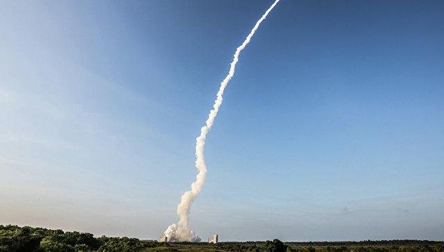 Скосмодрома Куру стартовал индийский спутник связи