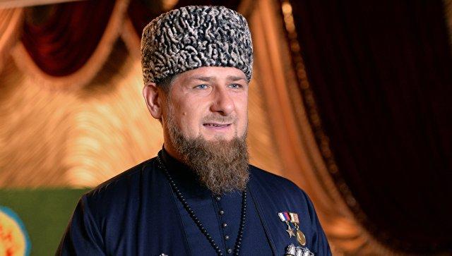Избранный глава Чеченской Республики Рамзан Кадыров во время церемонии инаугурации в Грозном. Архивное фото.