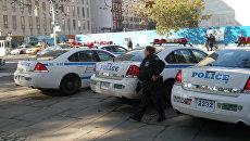 Автомобили полицейского управления Нью-Йорка на Манхэттене. Архивное фото