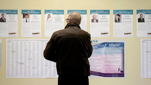 Навыборах вЛитве сминимальным отрывом выигрывает «Союз крестьян изеленых»