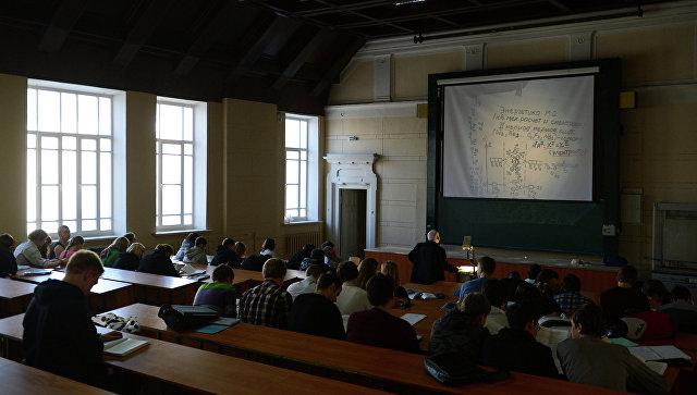 Обучение студентов в Бауманском университете. Архивное фото