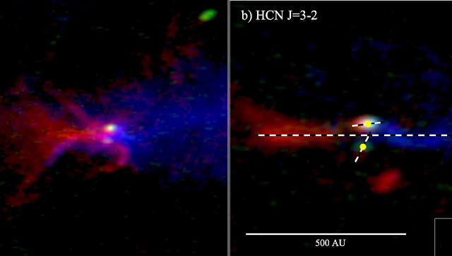 Астрономы открыли звезду стремя протопланетными дисками