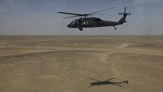 Американский многоцелевой вертолет Black Hawk (Черный ястреб). Архивное фото