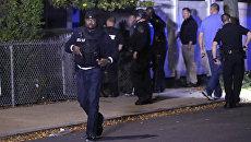 Полиция на месте стрельбы в Бостоне, США