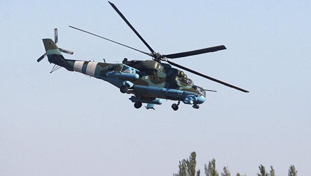 Вертолет ВСУ в Донецкой области. Архивное фото