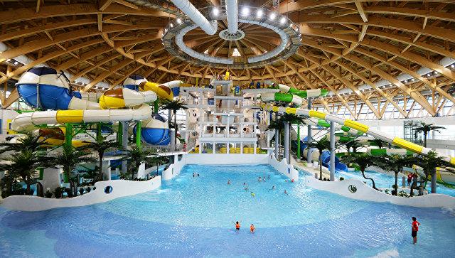 Крупнейший в России крытый аквапарк в Новосибирске. Архивное фото