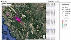 Карта землетрясения в Греции, 15 октября 2016