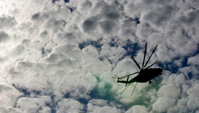 Вертолет Ми-26 в небе. Архивное фото