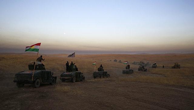 Боевики в Мосуле сняли, как смертник разметал танковую колонну солдат Ирака