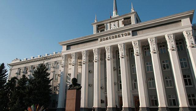 Здание Дома советов в Тирасполе, Молдавия. Архивное фото